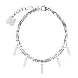 Armband met losse rechthoekjes zilver – ZAG Bijoux