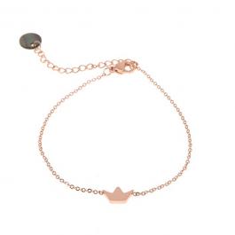 Armband kroontje rose goud – Go Dutch Label