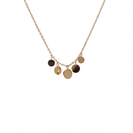 Ketting 5 coins goud – ZAG Bijoux