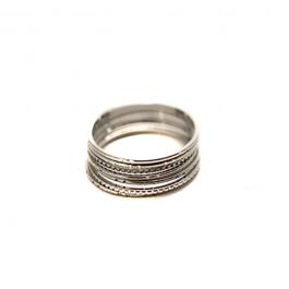 7 losse ringen zilver – ZAG Bijoux