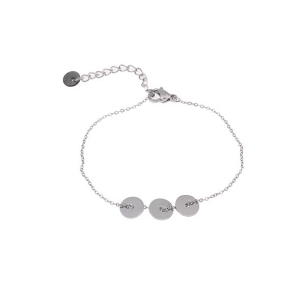 zilveren enkelband rondjes