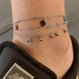 Enkelbandje balletjes los zilver – ZAG Bijoux