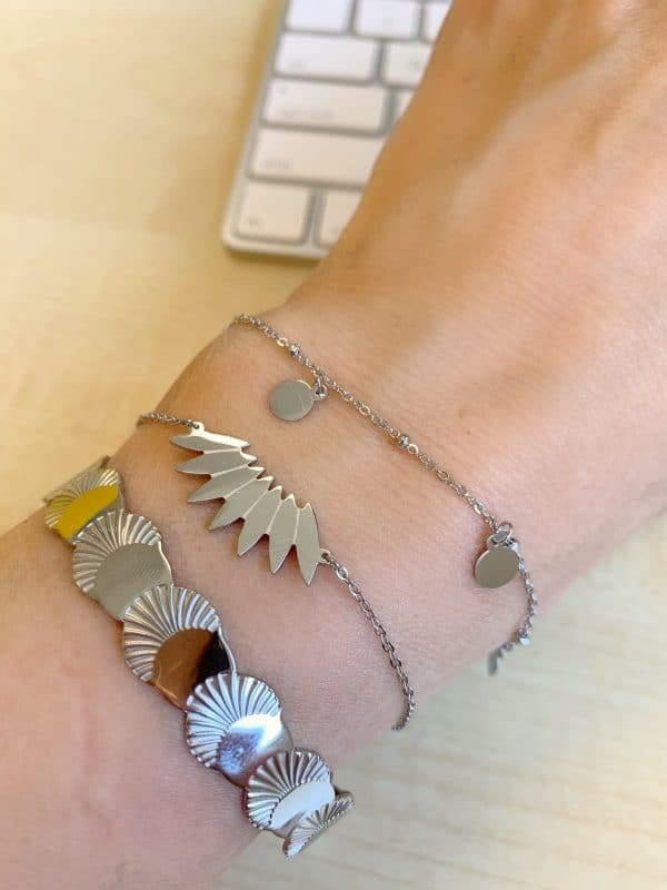 Made by Mila | Armband 5 coins zilver - Go Dutch Label 2