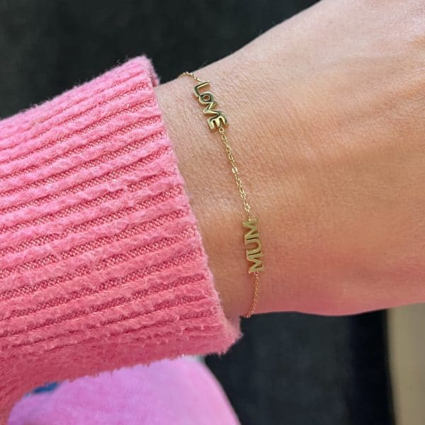 Made by Mila | Armband goud love mum- ZAG Bijoux 2