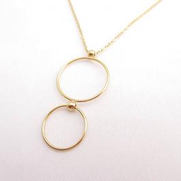 Ketting cirkels goud (lang) – Go Dutch Label