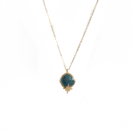 Ketting turquoise lapis stone northstar- ZAG Bijoux