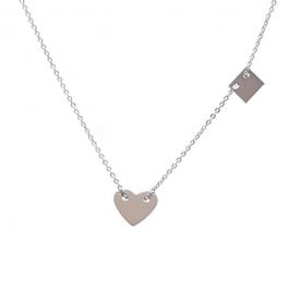 Ketting hartje zilver – ZAG Bijoux