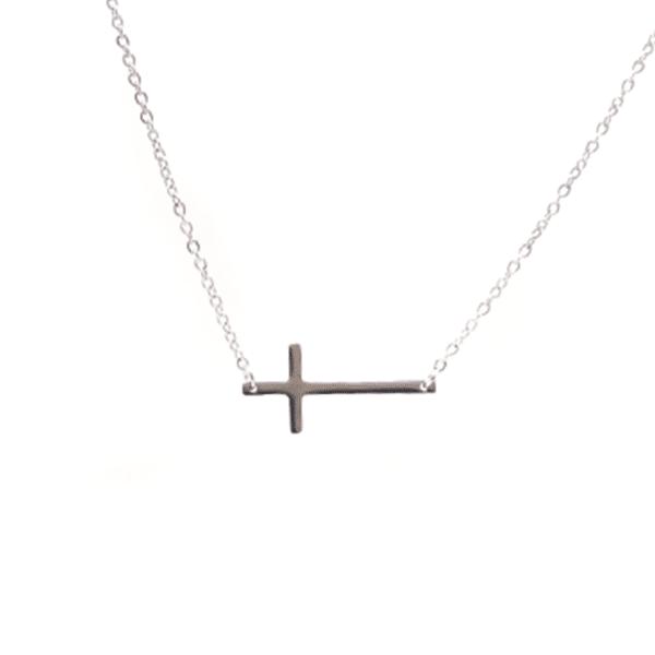 Ketting kruisje zilver zag bijoux