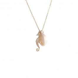 Ketting schelp zeepaardje goud – ZAG Bijoux