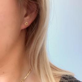 Oorbellen open hartje goud – Mila