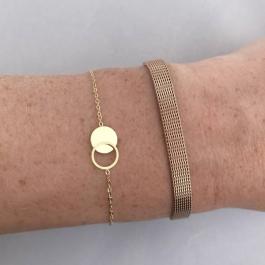 Armband cirkel/rondjes goud – ZAG Bijoux