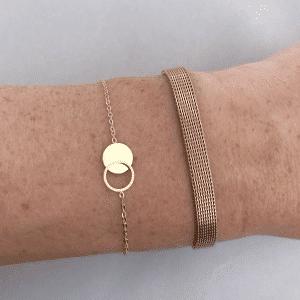 armband zag bijoux goud open ndichte cirkel