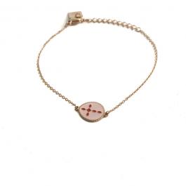 Pink cross armband goud – ZAG Bijoux