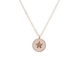 Ketting star stone light pink gold – ZAG Bijoux