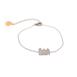 Armband amsterdamse huisjes zilver – Go Dutch Label