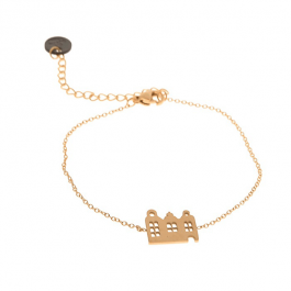 Armband amsterdamse huisjes goud – Go Dutch Label
