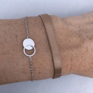 armband zilver zag bijoux open dichte cirkel