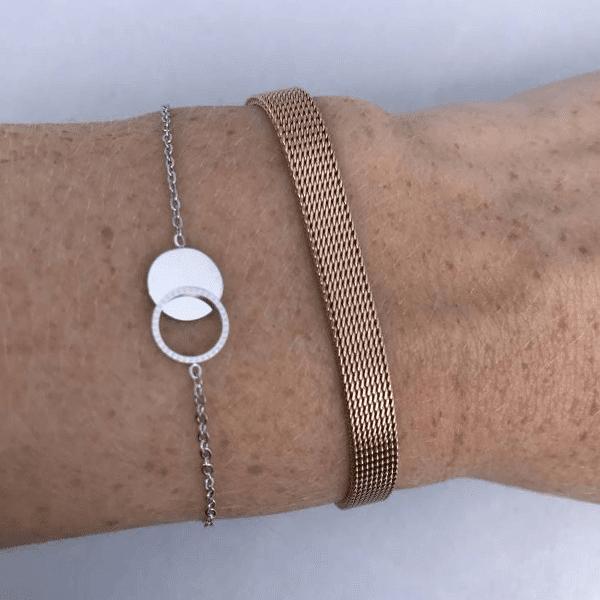 Made by Mila | Armband cirkel/rondjes zilver – ZAG Bijoux 2