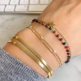 Dubbele armband white beads – ZAG Bijoux