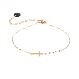 Armband kruisje goud – Go Dutch label