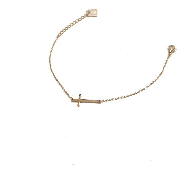 Made by Mila | Armband kruisje goud - ZAG Bijoux 2