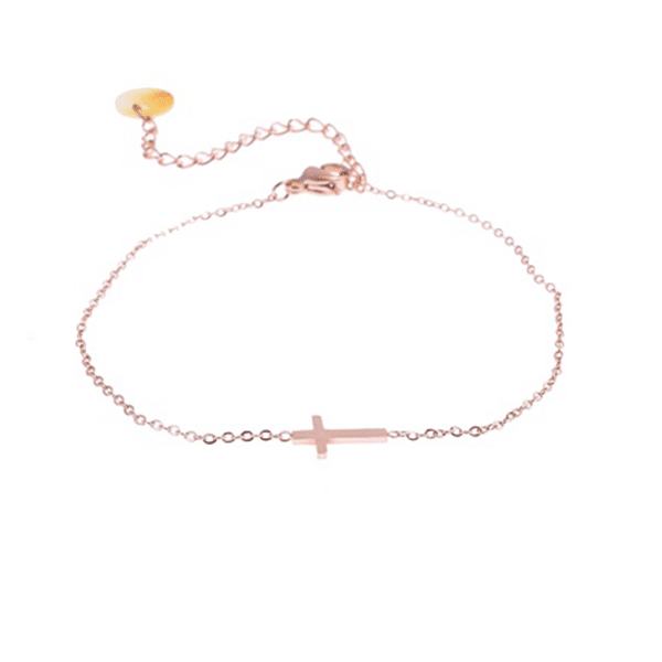 armband-kruisje-rose-goud-Go-Dutch-label
