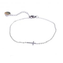 Armband kruisje zilver – Go Dutch label
