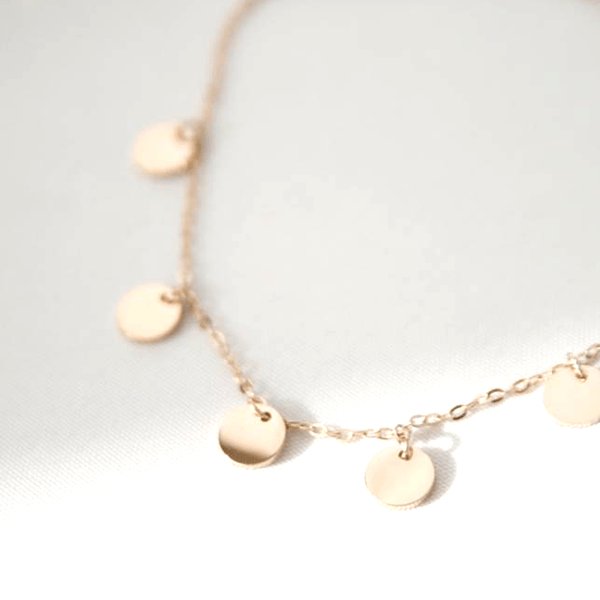 Made by Mila | Armband coins rose goud - ZAG Bijoux 1