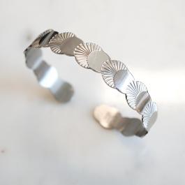 Slavenarmband waaier zilver – ZAG Bijoux