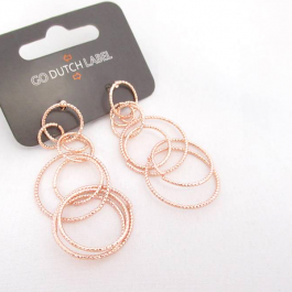 Oorbellen bijoux cirkels rose goud – Go Dutch Label