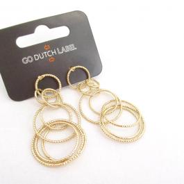 Oorbellen bijoux cirkels goud – Go Dutch Label