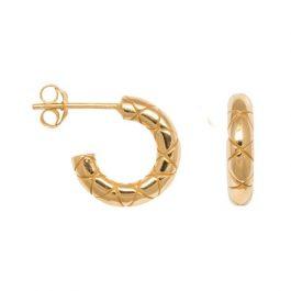 Chunky snake hoops gold – Eline Rosina oorbellen