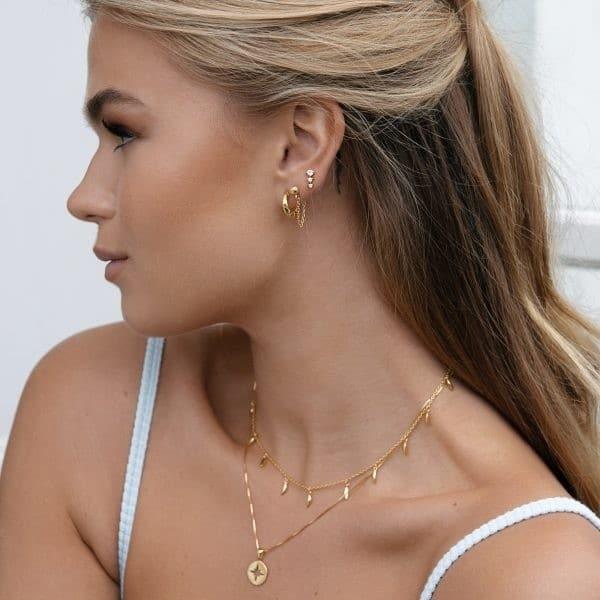 Made by Mila | Zirconia cone earrings sterling zilver- Eline Rosina oorbellen 3
