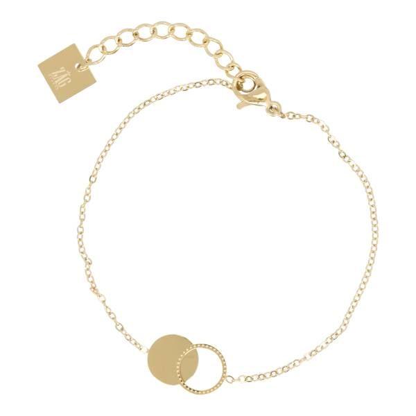 Made by Mila | Armband cirkel/rondjes goud - ZAG Bijoux 1