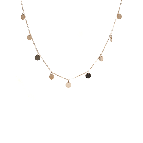 Made by Mila | Ketting coins goud - ZAG Bijoux 1