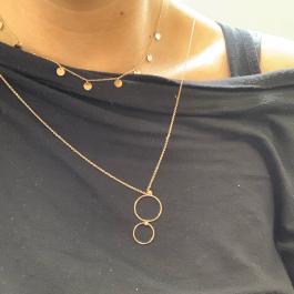 Ketting coins rose goud – ZAG Bijoux