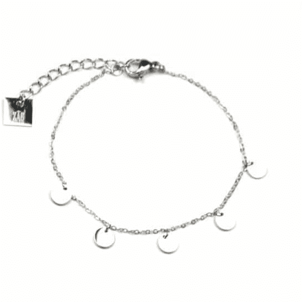 Made by Mila | Armband coins zilver - ZAG Bijoux 1