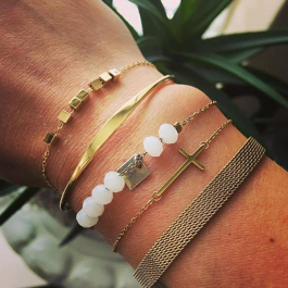 Cubes armband goud – ZAG Bijoux