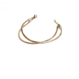Dubbele armband snake goud armband ZAG Bijoux