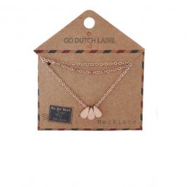 Kettingen druppels rose goud Go Dutch Label