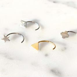 Oorbellen earhugger ster zilver – ZAG Bijoux