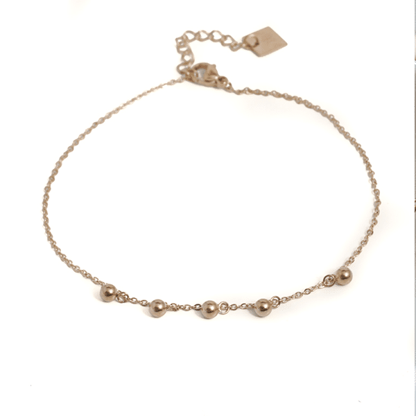 Made by Mila | Enkelbandje balletjes los goud - ZAG Bijoux 1