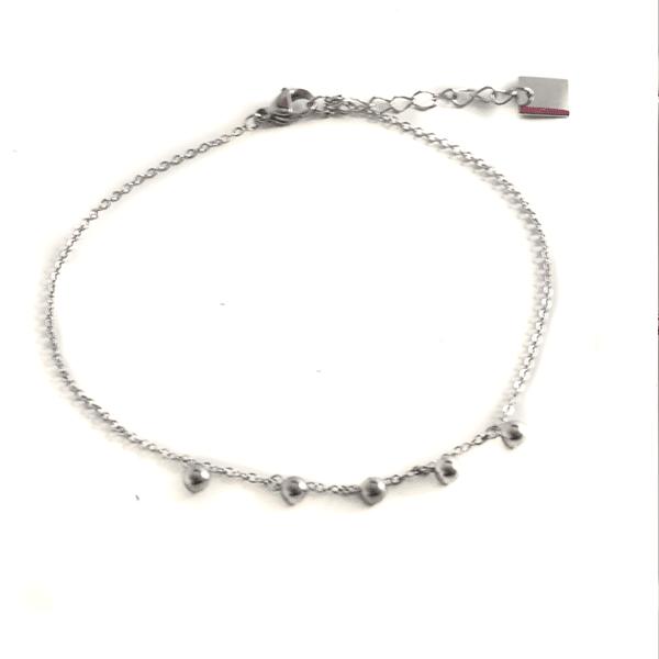 Made by Mila | Enkelbandje balletjes los zilver - ZAG Bijoux 1