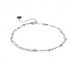 Enkelbandje dubbele ketting hartjes zilver – Go Dutch Label