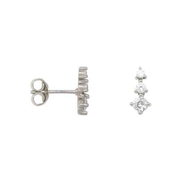 Made by Mila | Zirconia cone earrings sterling zilver- Eline Rosina oorbellen 1