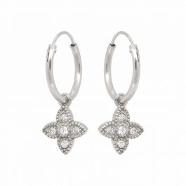 Eline Rosina oorbellen – Essential zirconia hoops in gold plated sterling silver