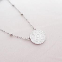 Ketting eye coin zilver – ZAG Bijoux