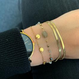 Armband gem stone grijs goud – ZAG Bijoux