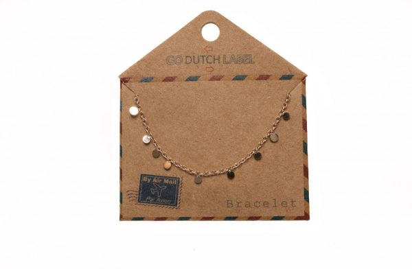 Made by Mila | Armband mini coins rose goud - Go Dutch Label 2