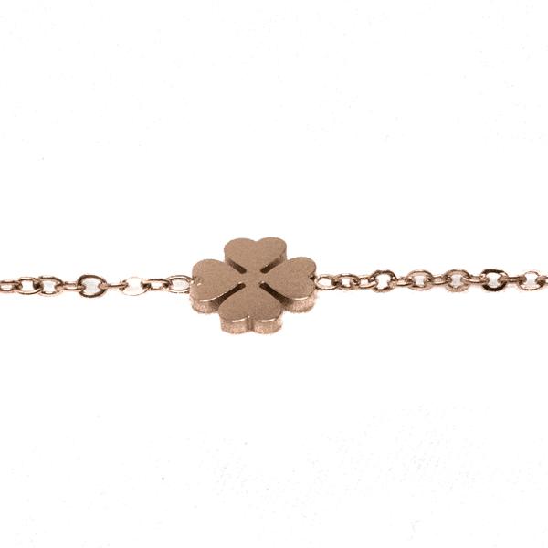 Made by Mila | Armband dichte klaver rose goud - Go Dutch Label 2